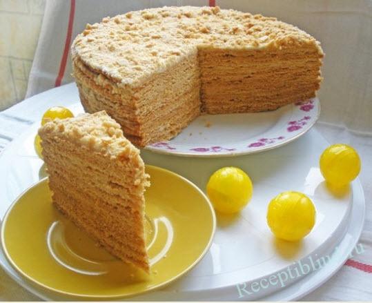 Рецепт торта медовый со сгущенкой