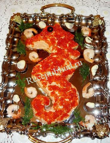 салат из морепродуктов, фото