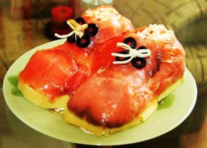Салат с креветками Башмачки