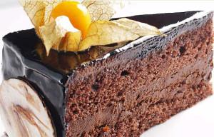 шоколадный торт с орехами фото