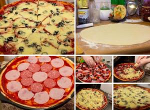 тесто на пиццу фото