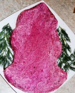новогодний салат фото