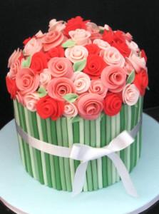розы из мастики фото