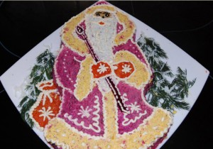 Салат Дед Мороз рецепт фото