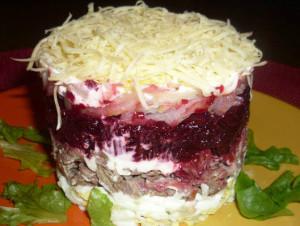 салат с мясом Выдумка