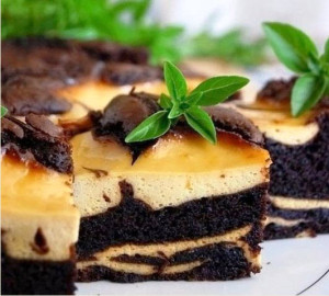 шоколадно банановый торт фото