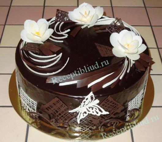 торт с черносливом фото