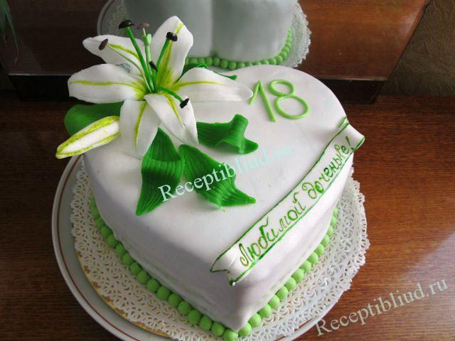 Как сделать листья на торт