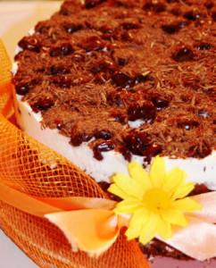 Вишневый торт фото