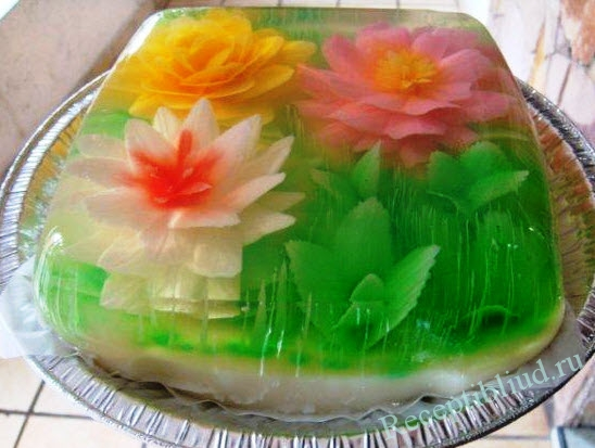 Как украсить торт желе в домашних условиях фото пошагово в