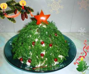 салат елка фото