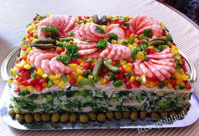 салат из крабовых палочек фото