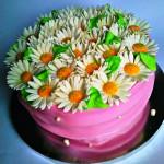 торт с ромашками фото
