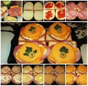 Бутерброды с ананасами и сыром