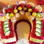 бутербродный торт рецепт с фото