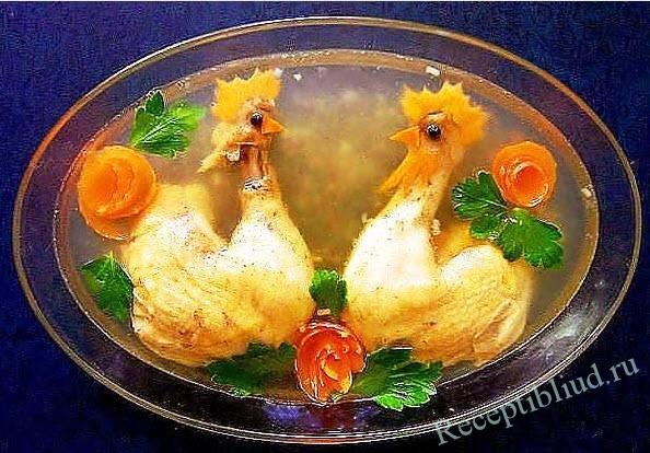 Холодец из курицы  лучшие рецепты Как правильно и вкусно