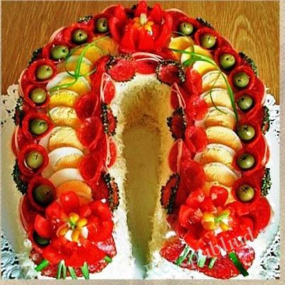 салат с новогоднему столу фото