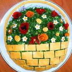 салат корзина цветами фото