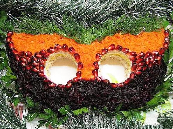 салат Новогодняя маска фото
