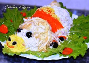 салат с грибами фото
