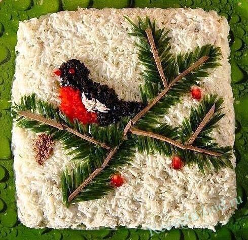 салат Снегирь фото
