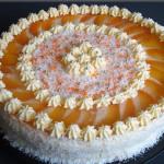 торт с фруктами и желе фото