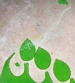 листья из мастики для торта фото