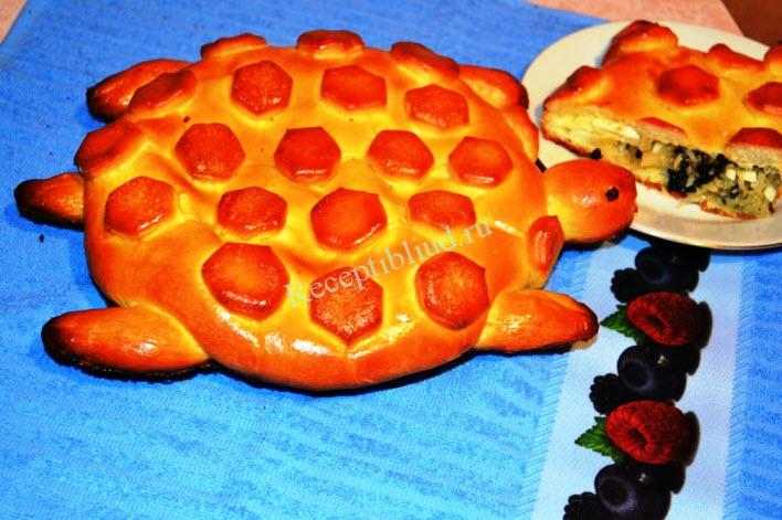 пирог Черепаха фото