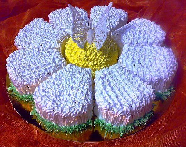порционный бисквитный торт фото