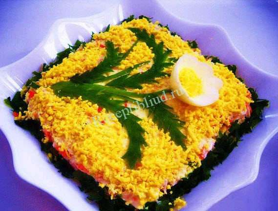 простой салат на праздничный стол фото