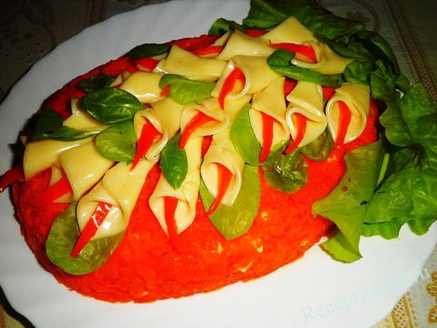 салат каллы фото