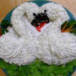 салат Лебеди фото