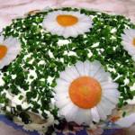 салат Ромашки фото