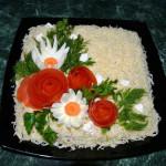 салат с куриным филе и шампиньонами фото