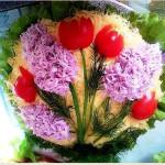 салат с курицей и помидорами фото