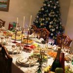сервировка новогоднего стола фото