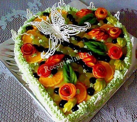 торт со сливками фото