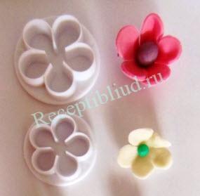 цветы из мастики рецепт с фото
