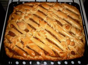 пирог с капустой и курицей фото