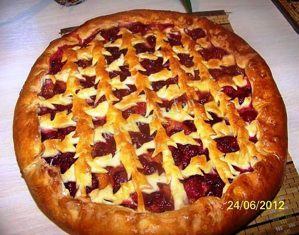 пирог с фруктами фото