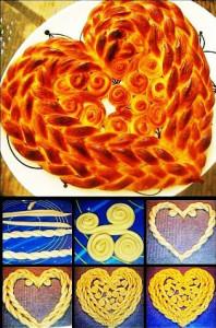 пирог в виде сердца рецепт с фото