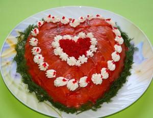 Салат сердце рецепт