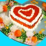 Салат в форме сердце