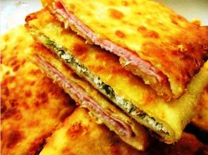 сырные лепешки с начинкой фото