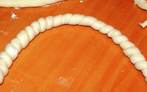 корзина из слоеного теста с рисом фото