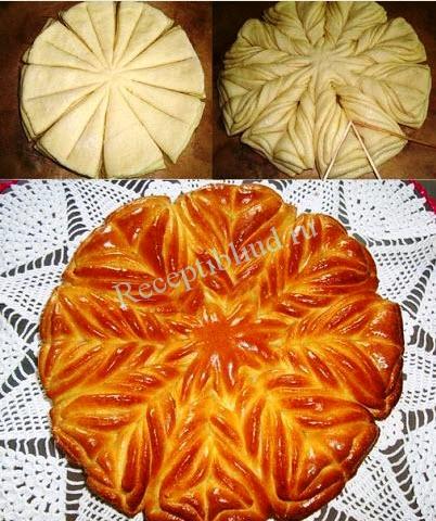 Пирог с узорами пошаговый