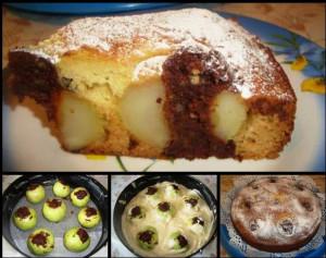 Пирог с яблоками и шоколадом
