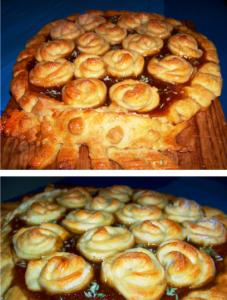 пирог с розами из теста фото