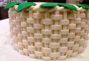 торт корзина с цветами рецепт с фото
