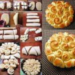 цветочные булочки рецепт с фото